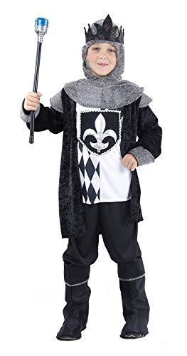 Bristol Novelty CC827 Costume de Roi Jeu d'Échec, Taille, Noir, Moyen