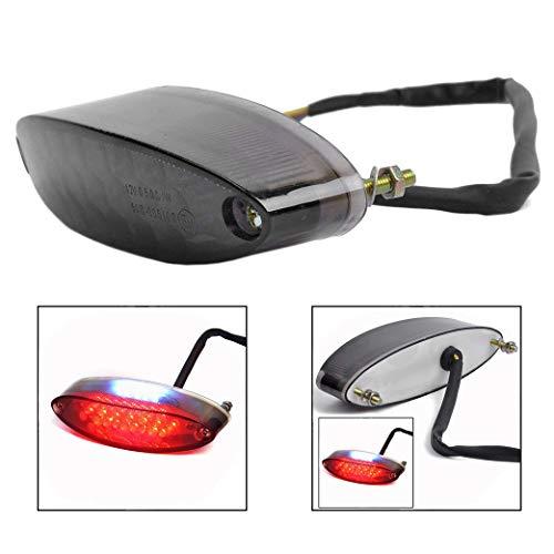 Xrten Universal LED Motorrad Rücklicht,Motorrad Heckleuchten Rückleuchte(Rot)