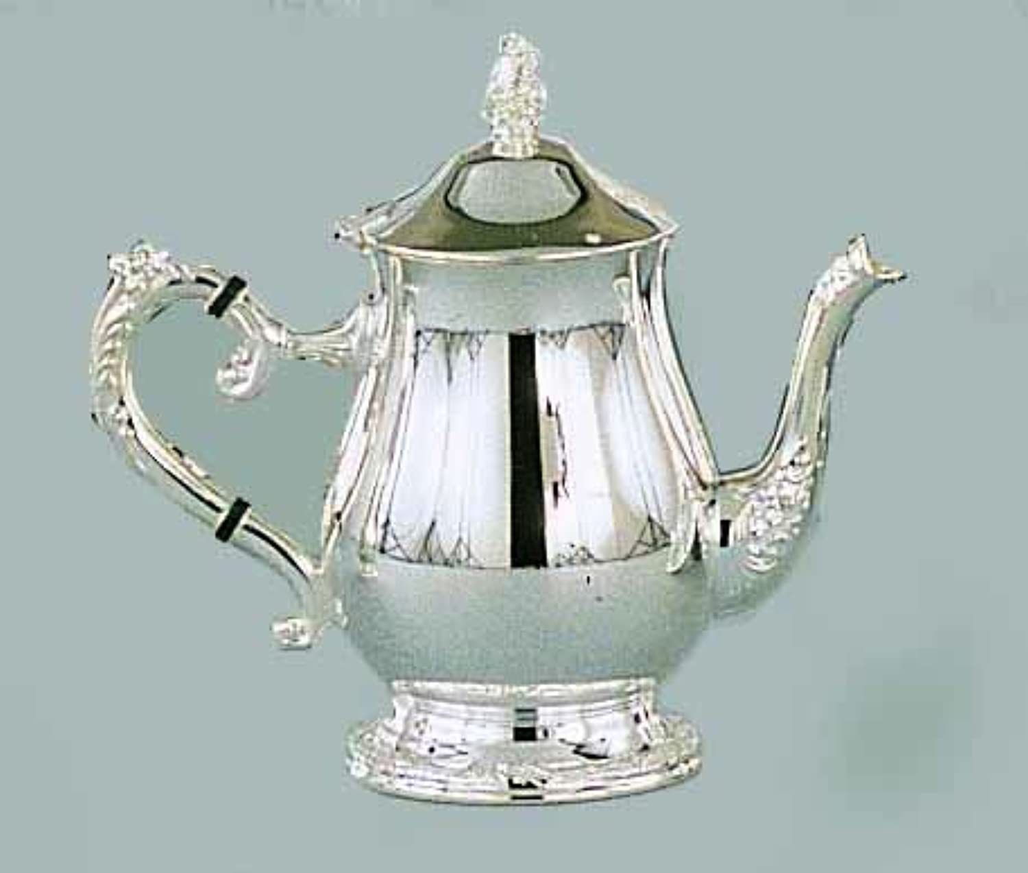 Elegance Silver 89808 Romantica Collection Silver Plated Tea Pot, 32 oz.