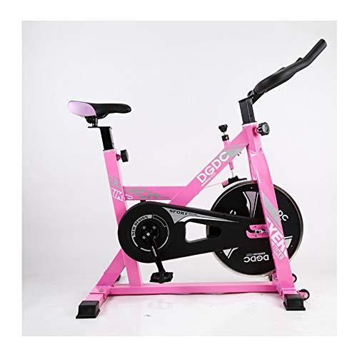 QWET Bicicleta estática para Interiores, Entrenador doméstico - Sistema de Bandas de Resistencia - Bicicleta estática - Bicicleta Plegable para Ejercicios,Rosado