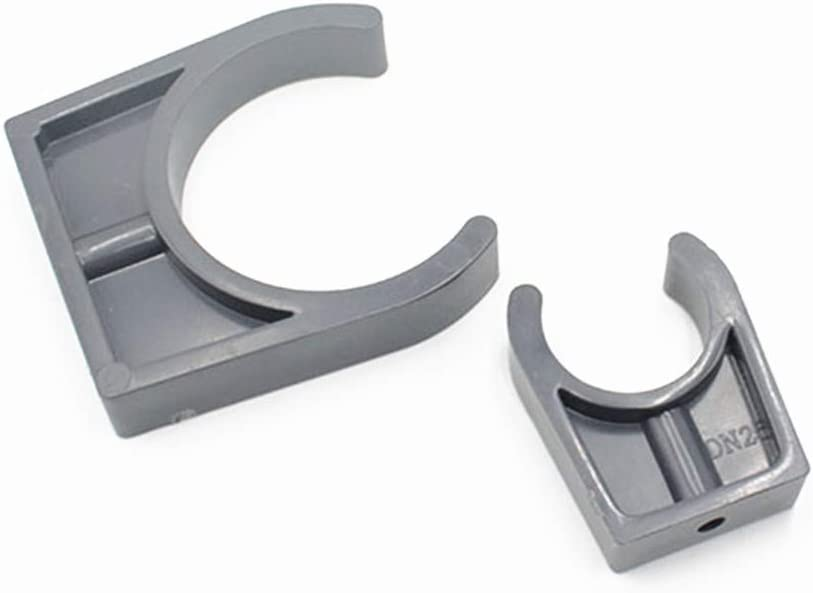 GEDE 20//25//32//40//50//63//75//90//110mm Diameter Gray Water Supply Pipe Clamps Clips Fittings 10 Pcs,110mm