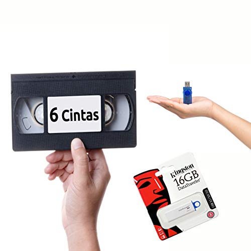 Digitalizar VHS a Pendrive 6 Cintas
