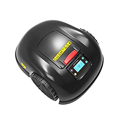 DDL Robotic Lawn Mower / / self-propelled Lawn Mower for Clean lawns, WiFi Remote Control Function Lawn Mower for 1000 (Color : Black)