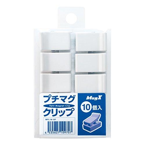 マグエックス マグネット プチマグクリップ 10個入 MPC-W-10P ホワイト