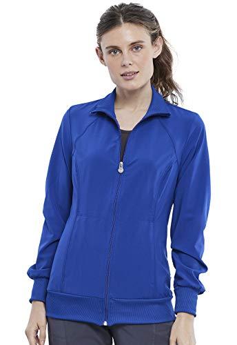 Cherokee Infinity Women Scrubs Jacket Zip Front Plus Size 2391A, 5XL, Galaxy Blue