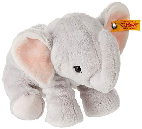 Steiff Benny Elefant - 20 cm - Kuscheltier für Kinder - Plüschelefant - weich & waschbar - grau - (084096)