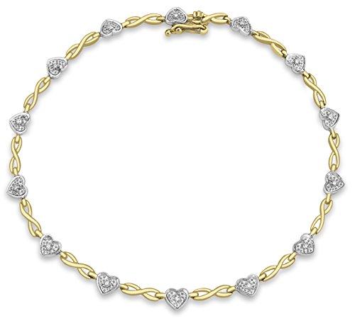 Carissima Gold Pulsera de mujer con oro bicolor de 9 quilates (375/1000), diamante