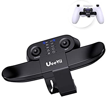UeeVii PS4 Controller Paddles Compatible with Playstation 4 Controller Back Button Attachment/Turbo Function FPS/Customization Mapping Buttons/Audio Jack