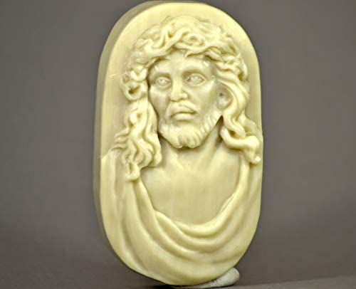 Jesus Christ Silicone Mold SOAP Plaster Wax Resin Clay 5oz product image