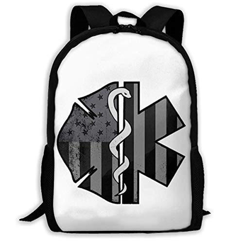 TTmom Zaini/Zaino Casual,Borse a Zainetto, American Subdued Firefighter EMS Adult Backpack Great
