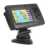 Akozon Marine GPS Navigator, DC 5-35V 5in Marine Boat GPS Navigator Pantalla LCD Trazador de cartas con transpondedor AIS Clase B Sonda GPS con transductor tradicional Chirp Opciones de mapa precargad