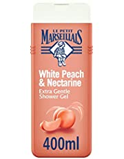 LE PETIT MARSEILLAIS، كريم استحمام، فائق اللطف، الخوخ الأبيض والنكتارين، 400 مل