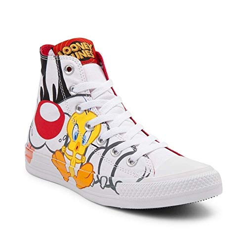 Converse Chuck Taylor All Star High Looney Tunes Rivalry Collection White Black Tweety Yellow 158886C Limited Edition (9 UK · 42,5 EU · 27,5 cm)