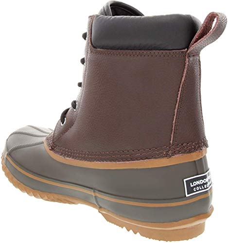 LONDON FOG Mens Ashford Waterproof and Insulated Duck Boot Black 11 M US