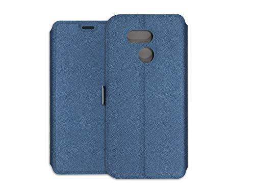 Hülle für HTC Desire 12s - Hülle Wallet Book - Marineblau Handyhülle Schutzhülle Etui Hülle Cover Tasche für Handy