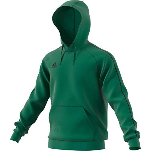 adidas Core 18, Felpa con Cappuccio Uomo, Verde (Bold Green), L