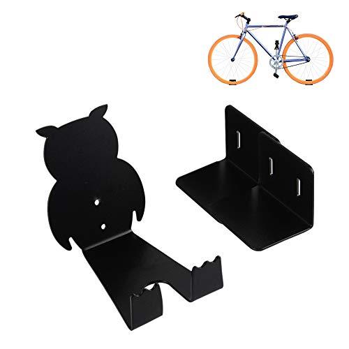Fahrradhalter Wandhalterung, fahrradhalterung Fahrrad Pedalhaken für Garagenlager, Radrahmenparkenmountainbike, Rennrad (Black)