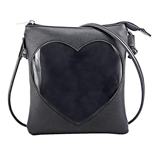SteamedBun Ita Bag Heart Shaped Crossbody Ita Purse Small Shoulder Pins Bag