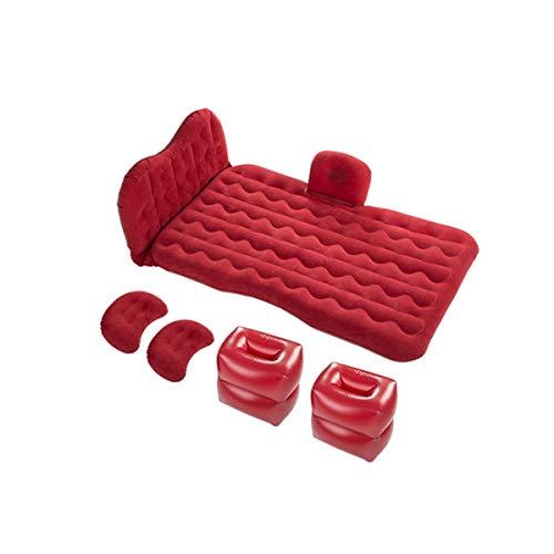 DXMCC Colchones de Aire Colchon Hinchable de Coche Colchón Inflable para Coche ,Viaje Camping Senderismo Cama Hinchable Plegable Sueño Sofá Hinchable (Color : Red, Size : 123x82cm)
