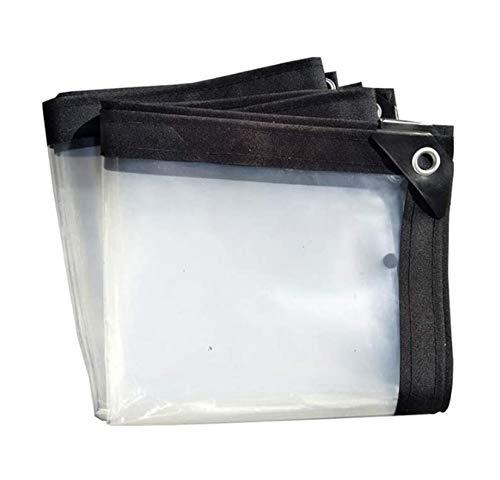 LONGSAND Clear Waterproof Cover Tarp with Grommet 3x5m/9.5x16ft Dustproof WeatherProof Rainproof Tarpaulin Plastic Ground Sheet Curtain for Garden Plants Gazebo Furniture Car,4x8m/13x26ft