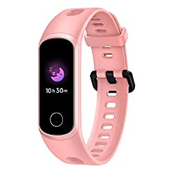 HONOR Band 5i (Coral Pink) Full Color Touchscreen, SpO2, in-Built USB Charging, Music Control, Watch Faces Store, Multiple Sports Modes, Scientific Sleep Monitor, HR Monitor, 50M Water Resistance,Huawei,Andes-B19