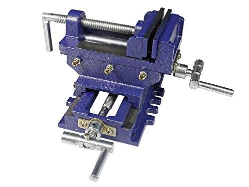 Vetrineinrete® Morsa a croce da banco in ghisa per trapano a colonna apertura 100 mm con ganasce P34