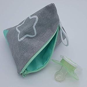 Aufbewahrung Schnuller-Tasche XL für 2-4 Nuckel Sterne