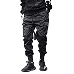 ✅【Material And Suitable Season 】: The mens joggers pants is made of high quality imported cotton material and excellent imported polyester material. It is very comfortable and breathable. It also has certain warmth function. joggers pants is suitable...