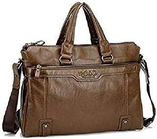 Stylish Style Unique leather Handbag Shoulder Bag Business Bag Laptop bag for Men BY-07 Brown