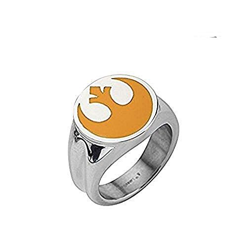 Star Wars con licencia oficial de Alianza Rebelde Alianza s¨ªmbolo tama?o anillo 9 mm