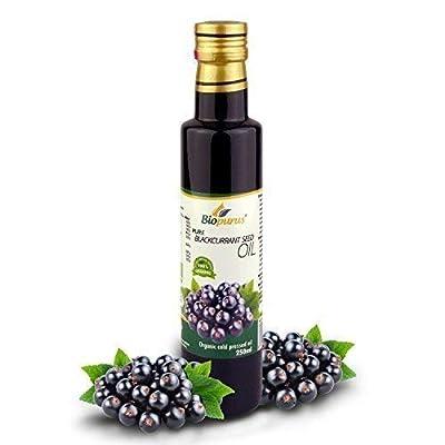 Certified Organic Cold Pressed Blackcurrant Seed Oil 250ml Biopurus
