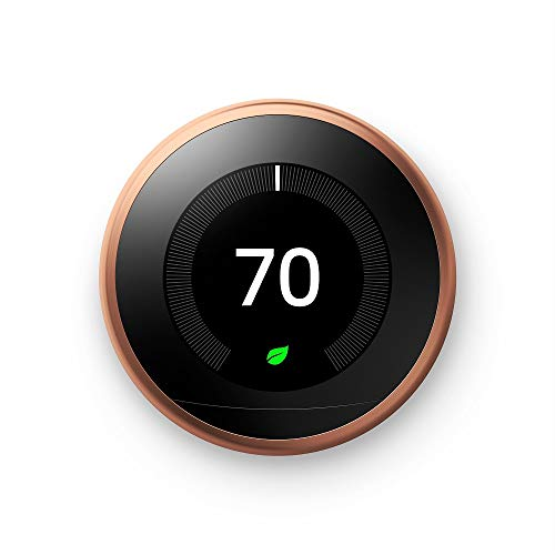 Google Nest Learning Thermostat - Programmable Smart Thermostat for Home - 3rd Generation Nest Thermostat - Works with Alexa - [Copper]