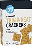 Amazon Brand - Happy Belly Thin Wheat Crackers, Original Flavor, 9.1 oz (Previously Solimo)