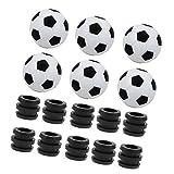 freneci Piezas de Componentes de Parachoques de Varilla de Plástico de Repuesto de Bola de Futbolín Estándar