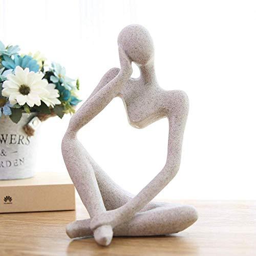 JJDSN Decoracin de esculturas abstractas Modernas, estatuas de artesana de Muebles para el hogar, decoracin del hogar, Adornos de Arte de Oficina, Figuras de Resina El Pensador A