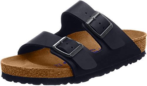 Birkenstock Arizona SFB Damen-Sandalen, Schwarz - Nieten , Wildleder, schwarz - Größe: 12 UK