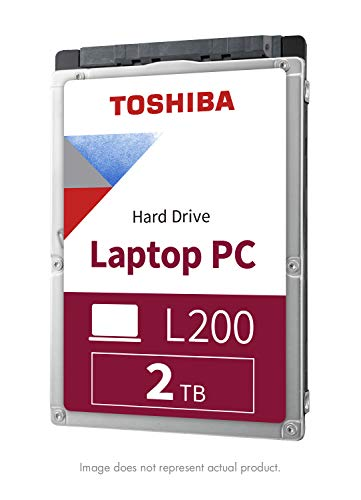 Toshiba HDWL120XZSTA L200 2TB Laptop PC Internal Hard Drive 5400 RPM SATA 6Gb/s 128 MB Cache 2.5' 9.5mm Height - 2000 Internal Bare/OEM Drive