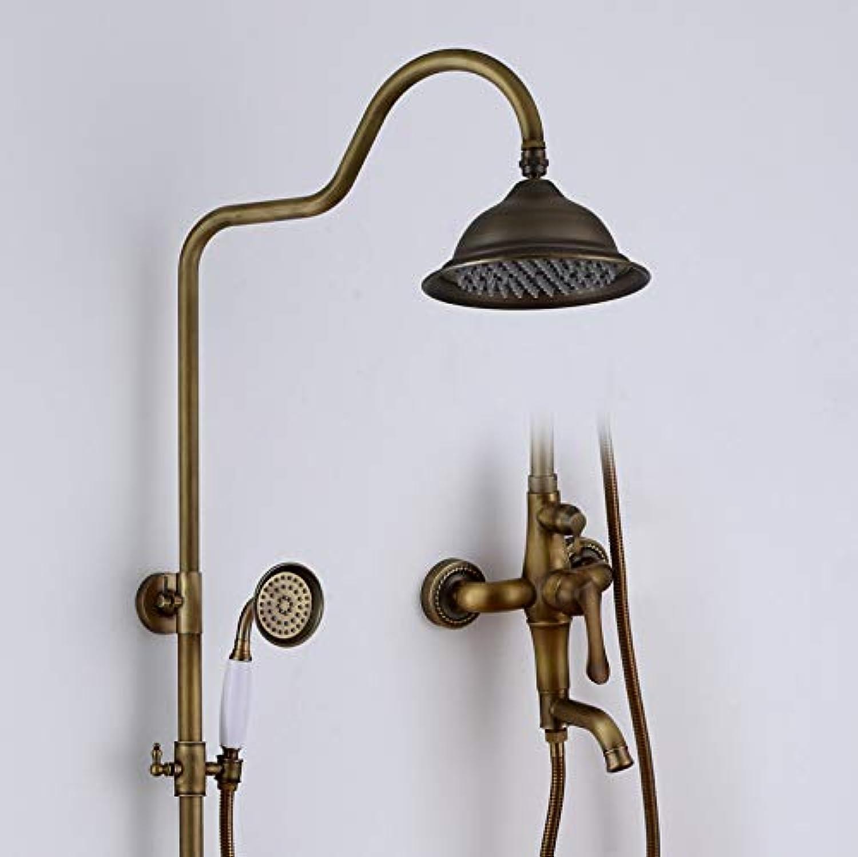 Hbbhbb Antike Dusche Wasserhahn Set Badezimmer Dusche Kupfer Krper Retro-Multifunktions-Duschset