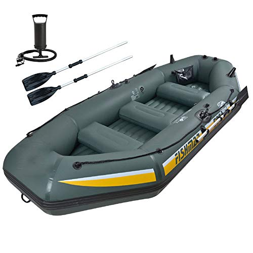 inflatable fishing boats Inflatable Rafts for Adults Heavy Duty, Inflatable Fishing Raft, Dinghy Boat with Motor, Kayak, Dinghies