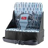 Nuby Booster Seat- Alzador de Viaje Plegable, Bolsa de Viaje que Se Convierte en Asiento Elevador con Espacio para Botellas y Más,- Puede Soportar Más de 20 Kg, Hasta 22.7 Kg, Color Gris, 9M+