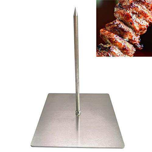 H&W New Upgraded Version Brazilian Gojo Barbecue Skewers ,Vertical Skewer Grill,Barbecue Grilling Rack Meat Spit (Medium)