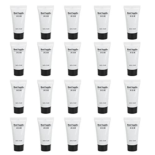 Eosnow Botella Dispensadora, Contenedor Exprimible 20 Piezas A Prueba De Fugas 20 Ml De Capacidad con Tapa para Moteles para Rellenar Acondicionador