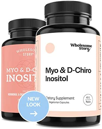 Myo-Inositol & D-Chiro Inositol Blend | 30-Day Supply | Most Beneficial 40:1 Ratio | Hormonal Balance & Healthy Ovarian Function Support for Women | Vitamin B8 | Made in USA (120 Capsules)