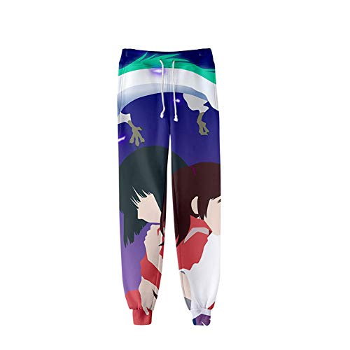 WJYHXW Anime Spirited Away Nigihayami Carbakunushi 3D-print, nonchalante trainingsbroek voor fanatik