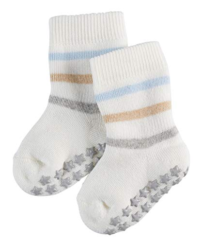 FALKE Baby Stoppersocken Multi Stripe Catspads, 1 Paar,Weiß (Off-White 2040), 74-80