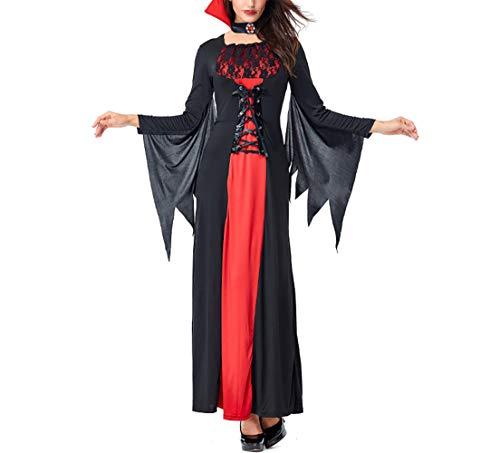 MISTYU Magicoo Fledermaus Vampir Kostüm Mädchen Kinder Halloween rot und schwarz - Faschingskostüm Kinder Mädchen Kleid & Teufelskostüm