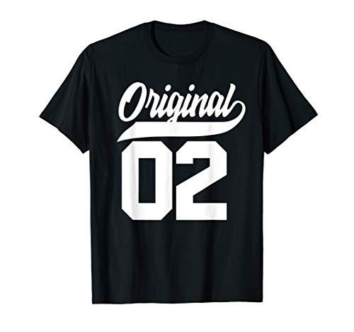 18.Geburtstag Geschenk Jungen Mädchen Original Jahrgang 2002 T-Shirt