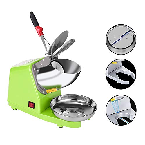 Check Out This LWJDM Electric Ice Crusher Double Blade Stainless Steel, Professional Ice Shaver Mach...
