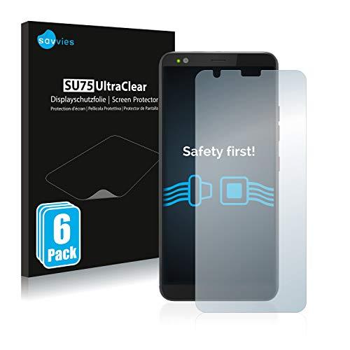Savvies 6X Schutzfolie kompatibel mit Gigaset GS370 Plus Bildschirmschutz-Folie Ultra-transparent