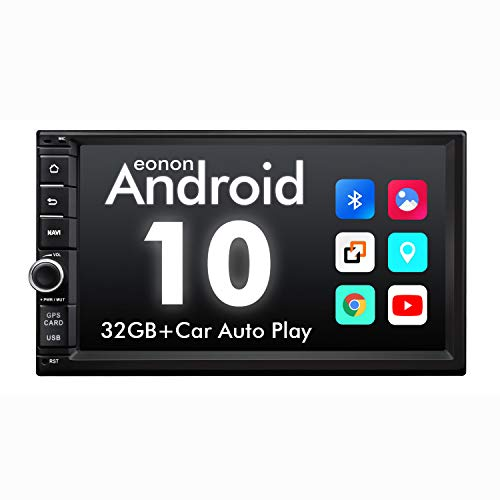 2020 Newest Double Din Car Stereo, Eonon Android 10 Car Stereo with Navigation,Car Radio Android Head Unit Support Android Auto Apple Carplay/WiFi/Fast Boot/Backup Camera/OBDII-7 Inch -GA2186